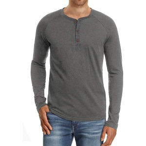 best Henley shirts for men: PEGENO Fashion Casual Henley Shirt