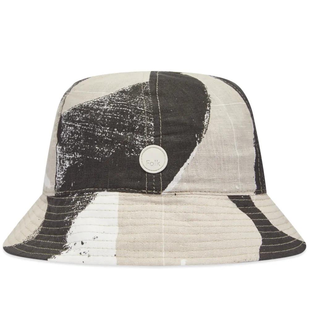 Folk Olio Print Bucket Hat