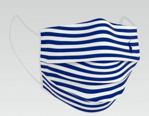 designer face mask - ralph lauren striped cotton face mask ppe