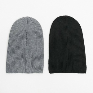 ASOS Design Slouchy Beanie 2 Pack