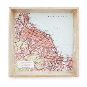 Custom Map Serving Tray, best friend gift ideas