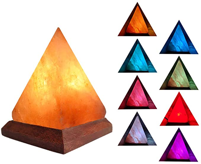 Best Home Office Decor Pyramid Salt Lamp
