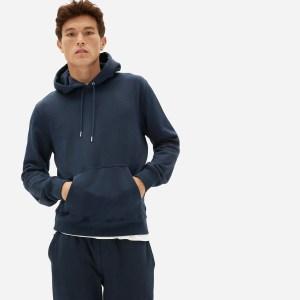 best hoodies for men - Everlane French Terry Hoodie (in navy)