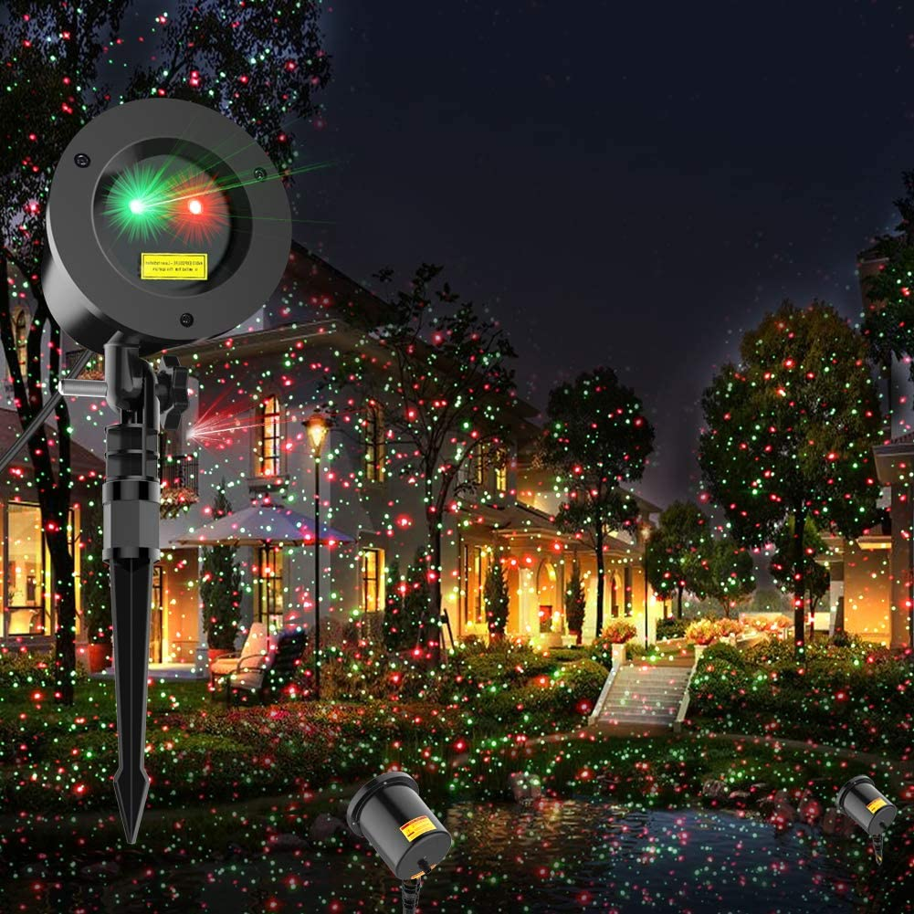 COOWOO Christmas Laser Lights, best christmas light projectors