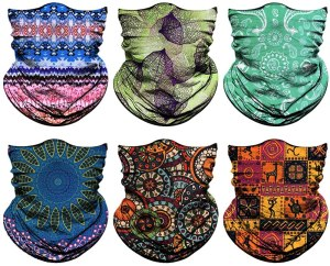 vibrant, bright pattern Venswell Neck Gaiter Masks