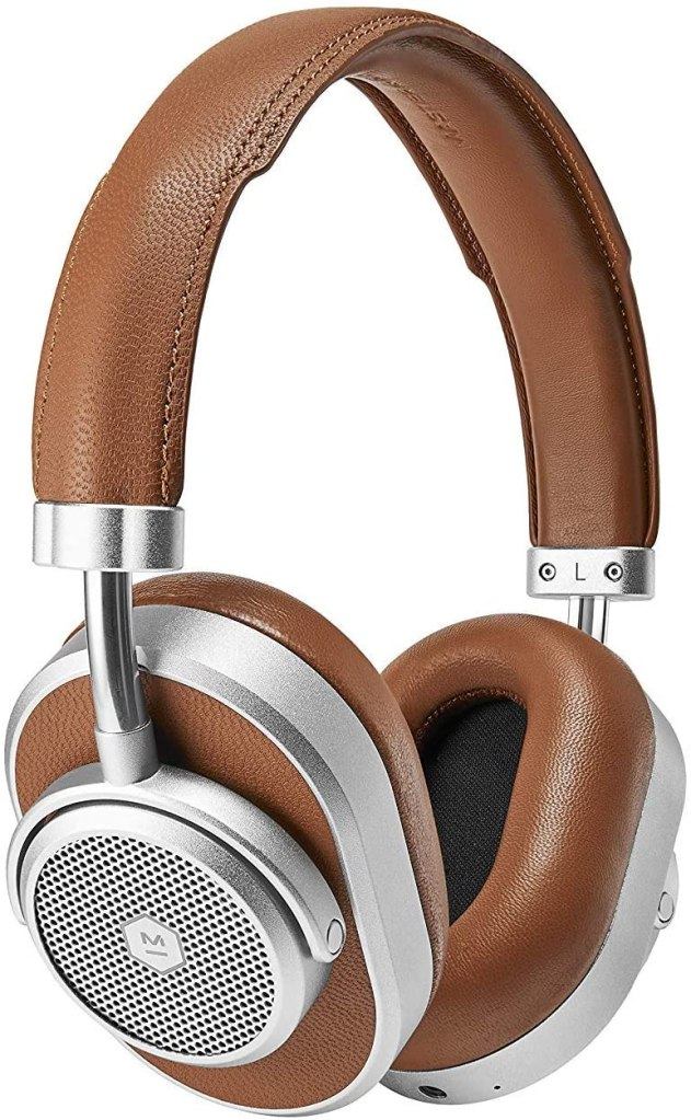 Master & Dynamic brown noise cancelling headphones