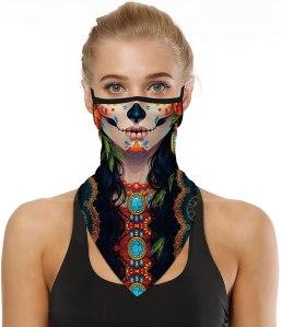Halloween neck gaiter face mask, halloween face masks, best halloween face masks