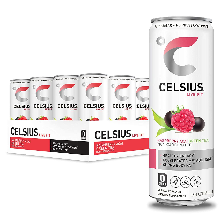 CELSIUS Raspberry Acai Green Tea Fitness Drink