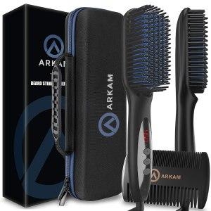 Arkam Deluxe Beard Straightener, best beard straighteners