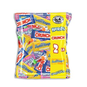 Kids Favorite Candy: Crunch Chocolate Bars, Butterfinger, Gobstoppers and Nerds