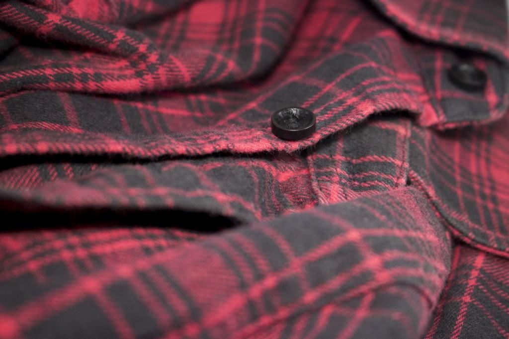 men's flannel-plaid shirt