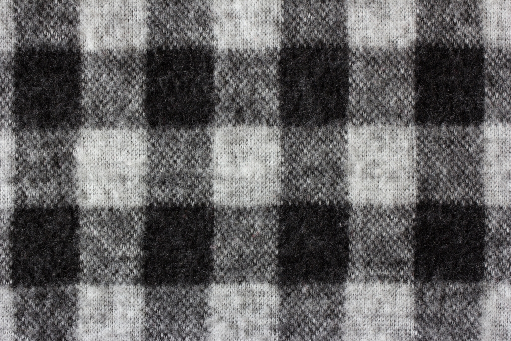 close up of flannel shirt