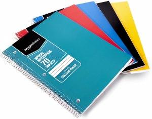 best notebooks amazon basics college ruled