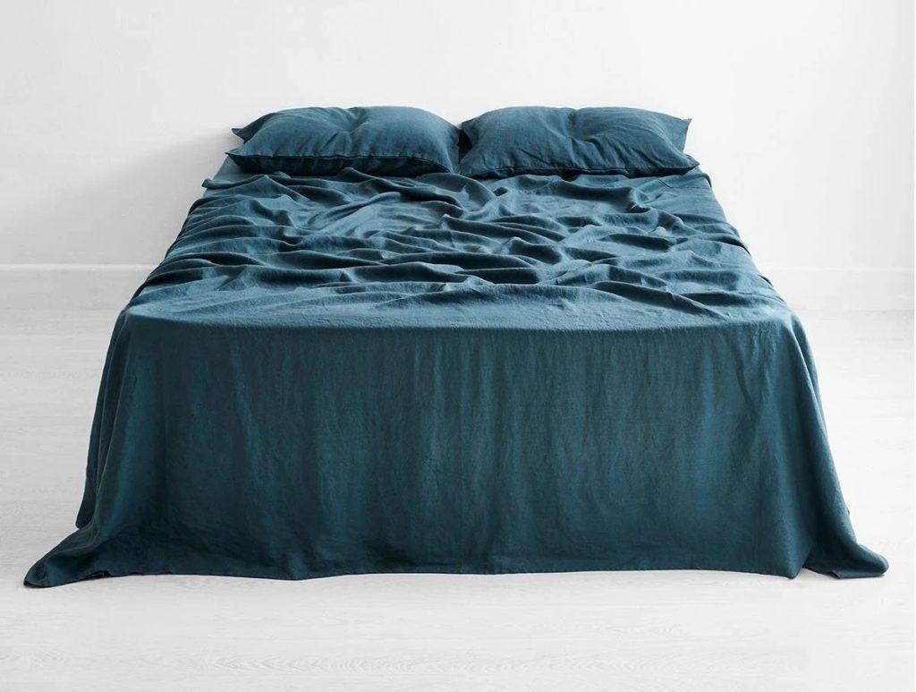 Petrol 100% Flax Linen Sheet Set by Bed Threads