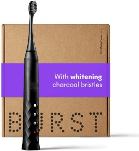 BURST charcoal electric toothbrush, best electric toothbrush
