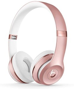 Beats Solo3 pink wireless headphones, gifts for her