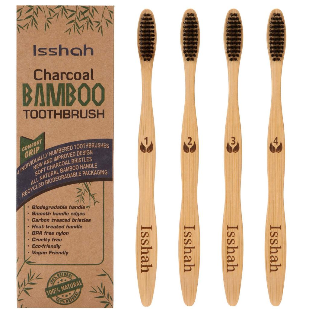 Biodegradable Eco-Friendly Natural Bamboo Charcoal Toothbrushes