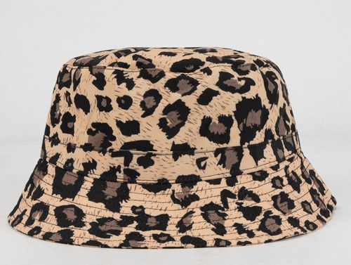 leopard print bucket hat by blue crown