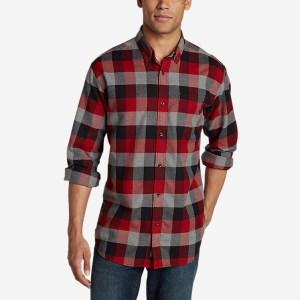Eddie Bauer Eddie's Favorite Flannel Relaxed Fit Plaid Shirt