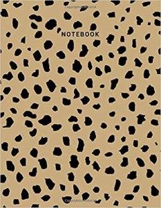dominique notebooks leopard print