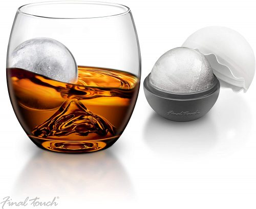 Final Touch Whiskey Glass with Ice Ball Maker