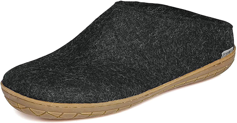 Glerups charcoal slipper