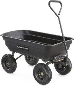 best wheelbarrow gorilla carts poly garden dump cart