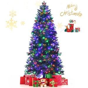 best pre lit christmas tree gymax