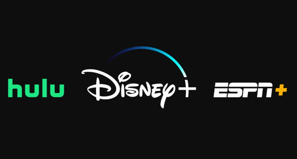 Hulu, Disney+ and ESPN+ logos