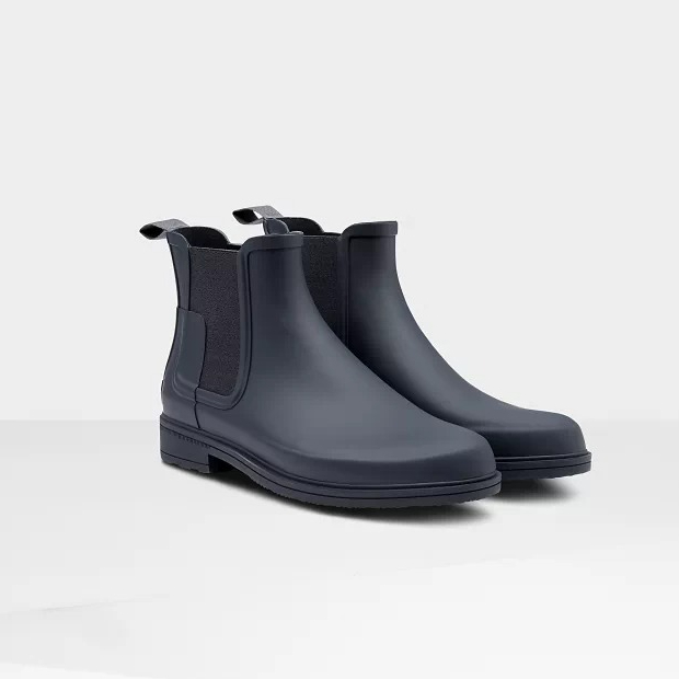 Hunter Boots Men's Refined Slim Fit Chelsea Boots in Navy
