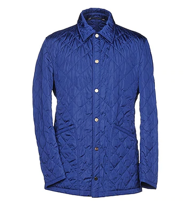 royal blue men's quilted jacket by husky