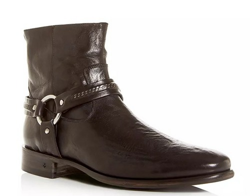 John Varvatos Collection Eldridge Leather Harness Boot, men's western boots