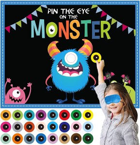 Joy Bang Halloween Pin The Eye on The Monster Game, best halloween party games