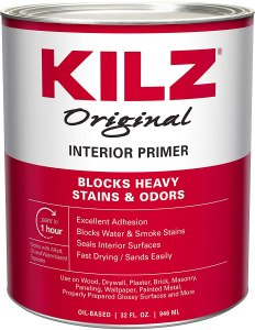 KILZ oil-based primer, how to remove wallpaper