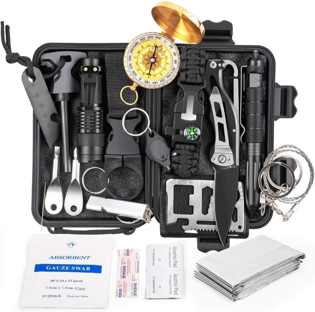 KOSIN Survival Gear18 in 1 Emergency Survival Kit