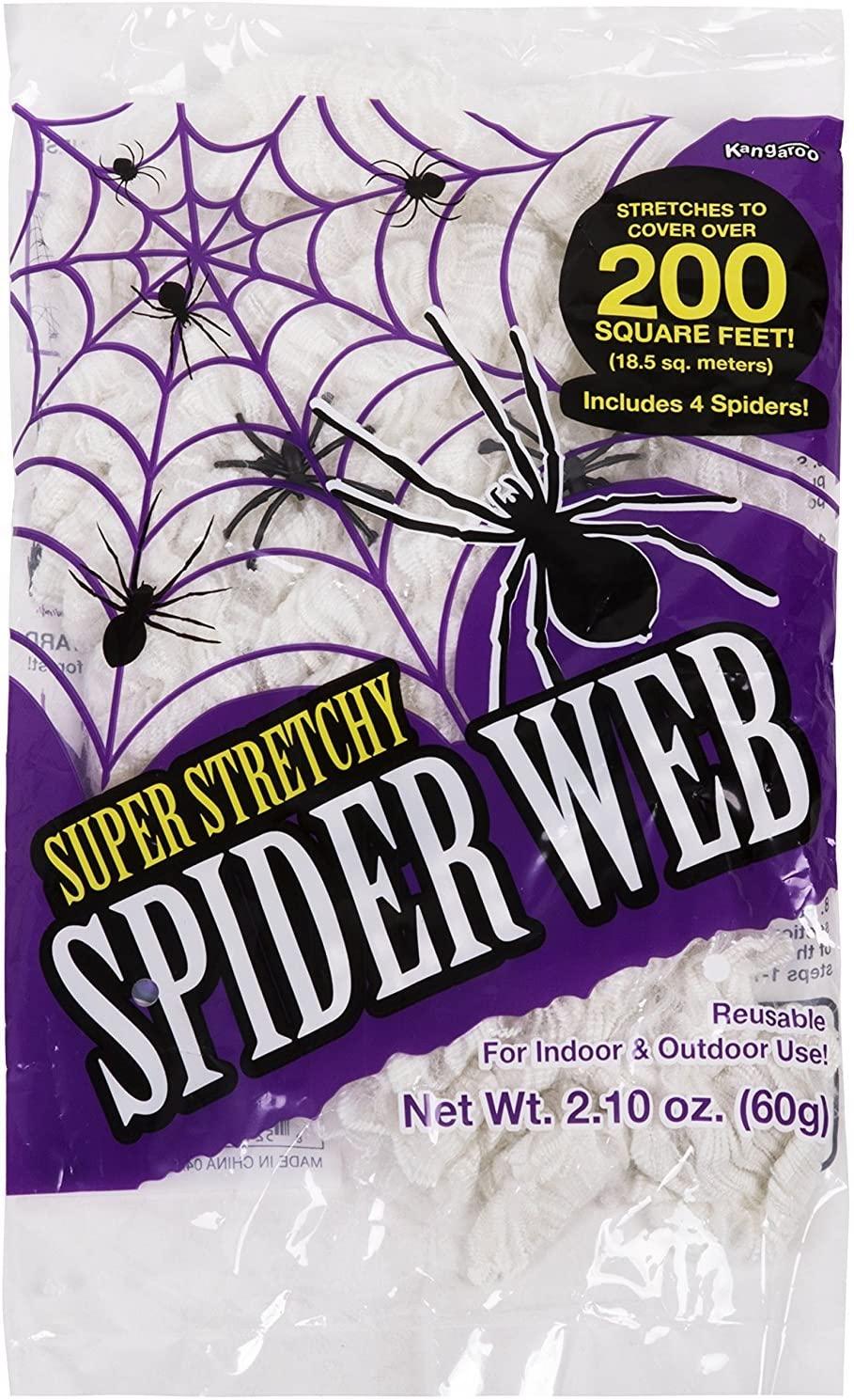 halloween decorations kangaroos stretchy web