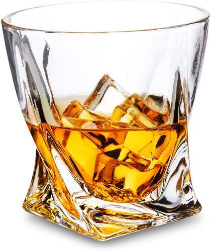 LANFULA Twisted Whiskey Glass