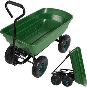 luckymore garden dump utility wagon