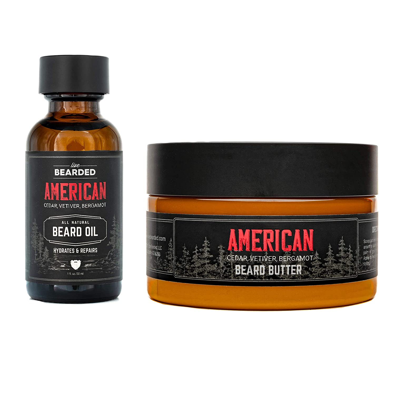 Live Bearded Beard Oil and Beard Butter Kit