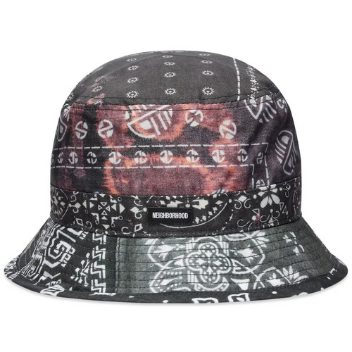 neighbood paisley bandana print bucket hat