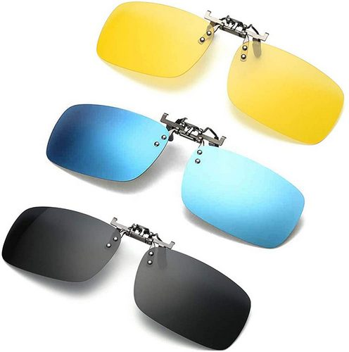 Newon 3 pack clip-on flip-up sunglasses