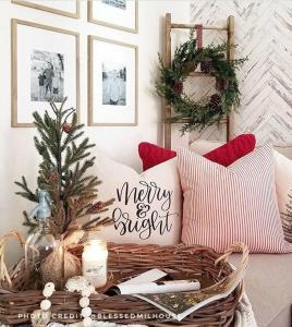 christmas pillows ourrustichomedecor