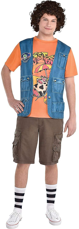 Man wears Party City Dustin Roast Beef Costume