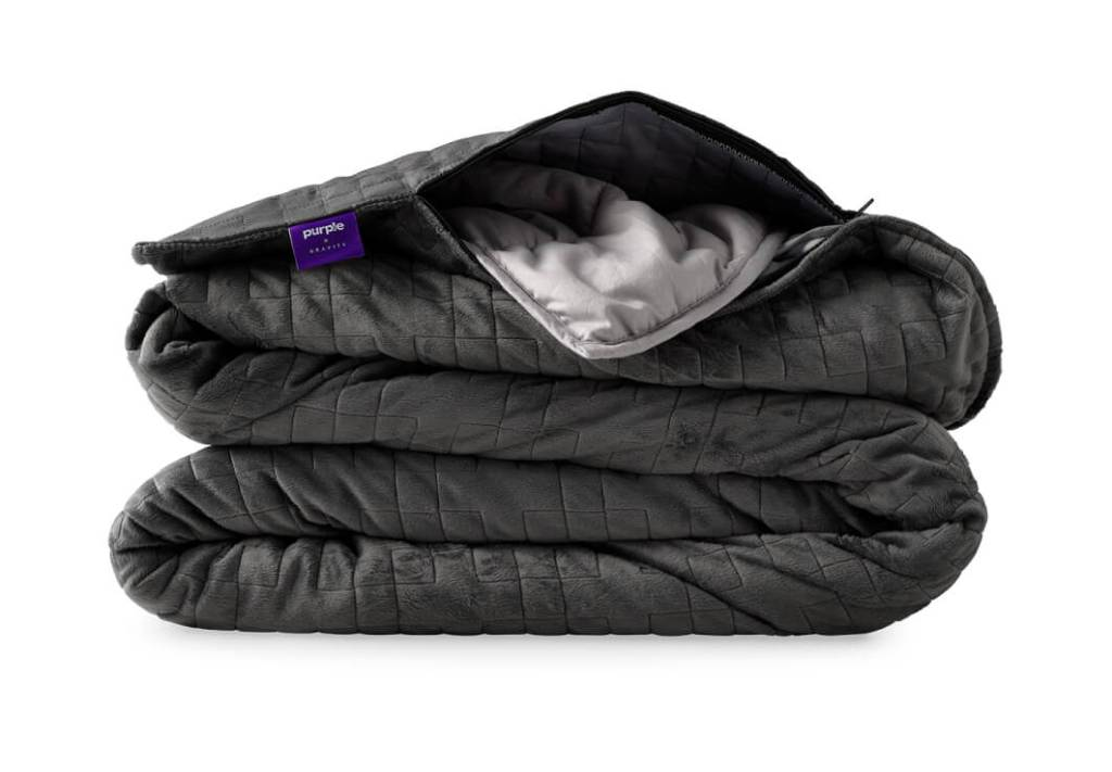 Purple and Gravity Luxury weighted blanket, best weight blankets