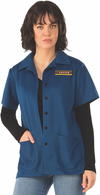 Woman wears Rubie's Women's Stranger Things Joyce's Shirt