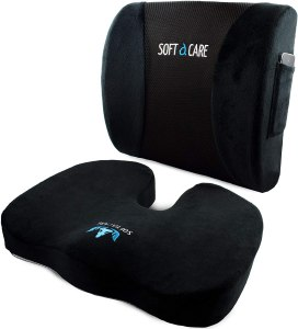 SOFTaCARE Coccyx Orthopedic Memory Foam and Lumbar Support Pillow