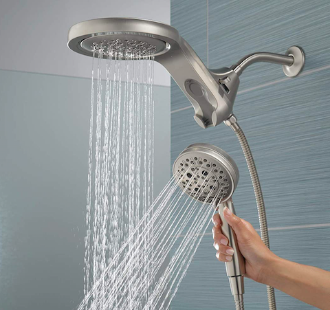 DELTA FAUCET HydroRain H2Okinetic Two-in-One Handheld Shower Head