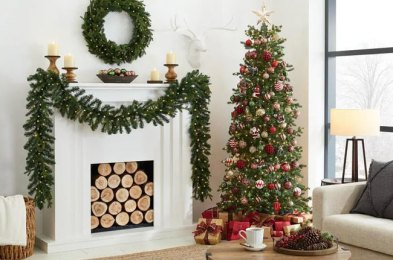 take the hassle out of the holidays with a pre-lit christmas tree