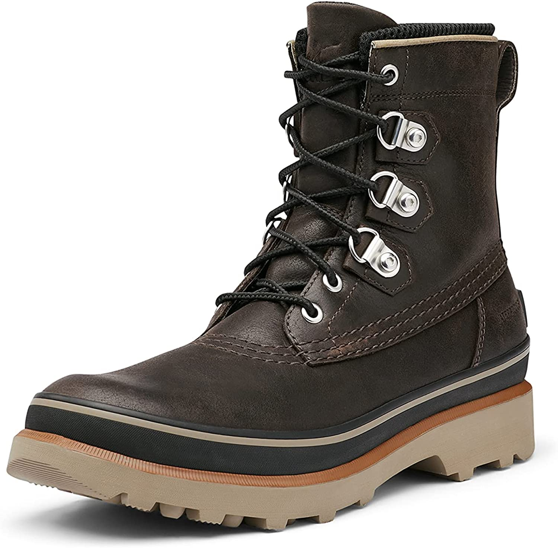 Sorel Men's Caribou Street WP Boot Rain Waterproof in black