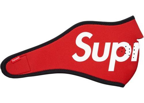 Supreme Logo Red Face Mask